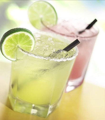 two glasses with margaritas